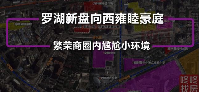 繁荣商圈内尴尬小环境 罗湖新盘向西雍睦豪庭