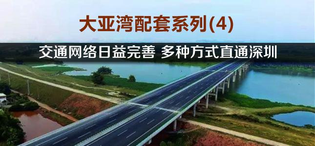 大亚湾配套系列(4):交通网络日益完善 多种方式直通深圳