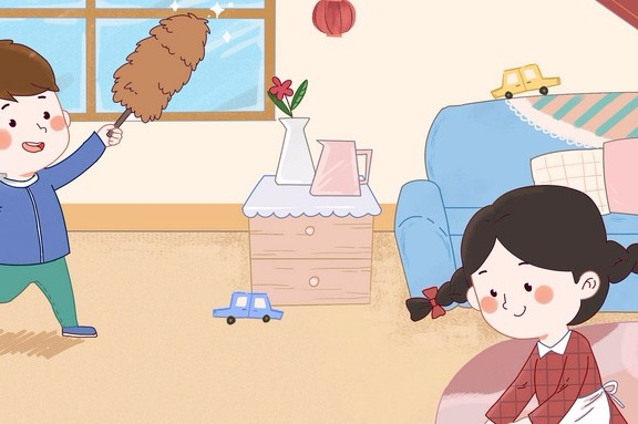 10岁男孩做家务情况