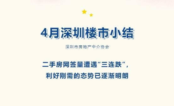 """深房中协4月楼市小结:深圳二手房网签量""""三连跌"""""""