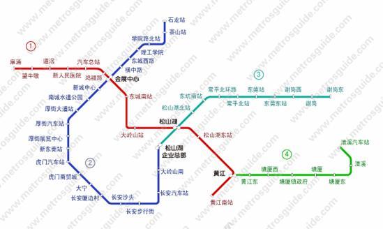 东莞轻轨线路图