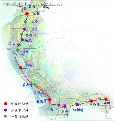 最新深圳地铁规划图图片大全 深圳轨道交通线路图 全市地铁
