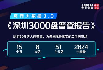 独家!《深圳3000盘普查报告-房网大数据3.0》